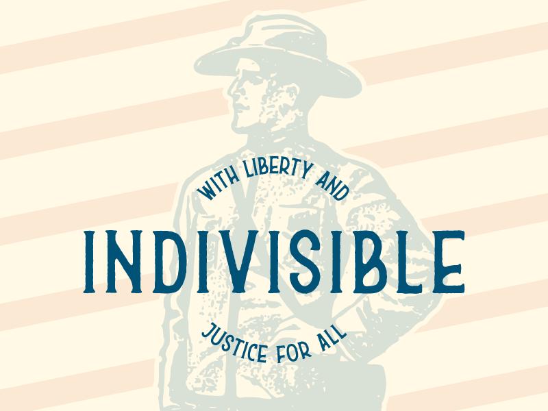 Indivisible soldier usa freedom vector typography illustration brand design lifestyle brand brand identity logo design logo branding