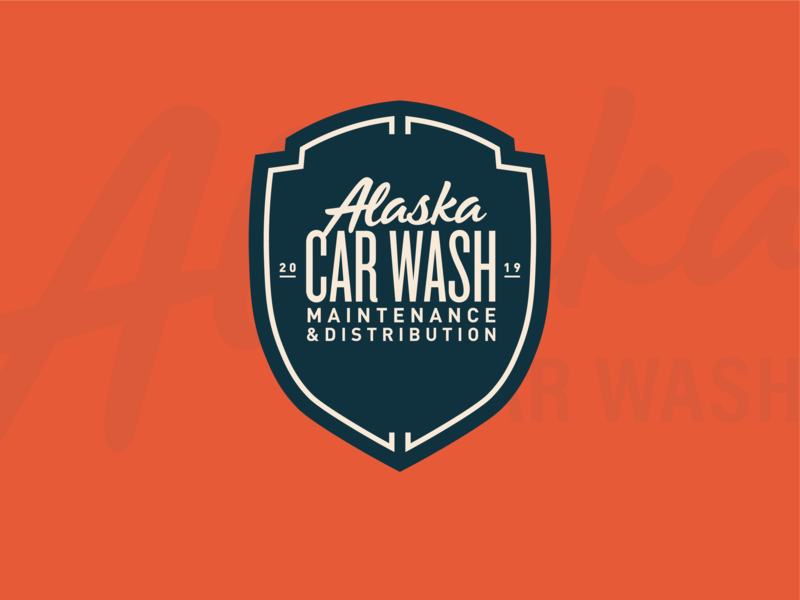 Alaska Car Wash Badge vector typography brand design lifestyle brand brand identity logo design logo branding
