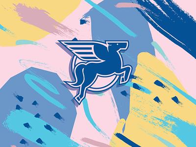 Pegasus Detail Shot horse pegasus mythical creature mythological mythology mythical icon vector typography illustration brand design lifestyle brand brand identity logo design logo branding