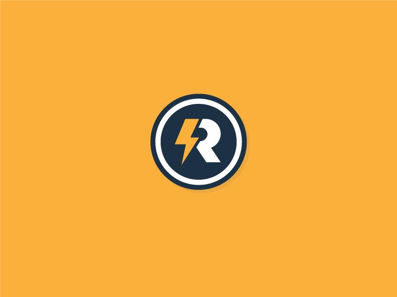 Thunder R Icon monogram icon lightning bolt lightning bolt thunderstorm thunderbolt thunder vector typography illustration brand design lifestyle brand brand identity logo design logo branding