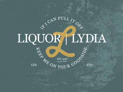 Lydia Liquor Revamped liquor alcohol music vector typography brand design lifestyle brand brand identity logo design logo branding