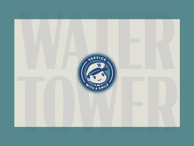 Water Tower icon vector typography illustration brand design lifestyle brand brand identity logo design logo branding