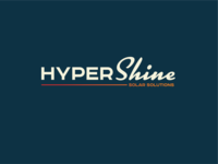 Hyper Shine Solar wordmark typerface logotype typography vector brand design lifestyle brand brand identity logo design logo branding