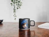 Service guy mug mug mockup icon vector illustration brand design lifestyle brand brand identity logo design logo branding