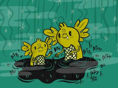 Black Lagoon character design book illustration lydia jean art ipad pro halloween vector design art spooky illustration