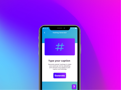 Hashtag generator app marketing generator hashtag typography app concept search figma app ux kamal design concept ui