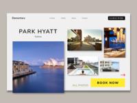 Hotel booking website.