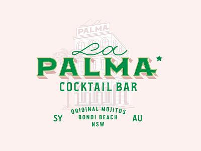 La Palma type letters design restaurant lettering branding mexico typography illustration logotype