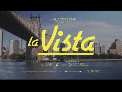 La Vista custom lettering custom type main title design type typography lettering title sequence title design