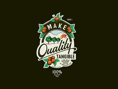Make Quality Tangible Part 1 labeldesign design letters logo branding illustration logotype mexico typography lettering podcast art podcast crashcourses