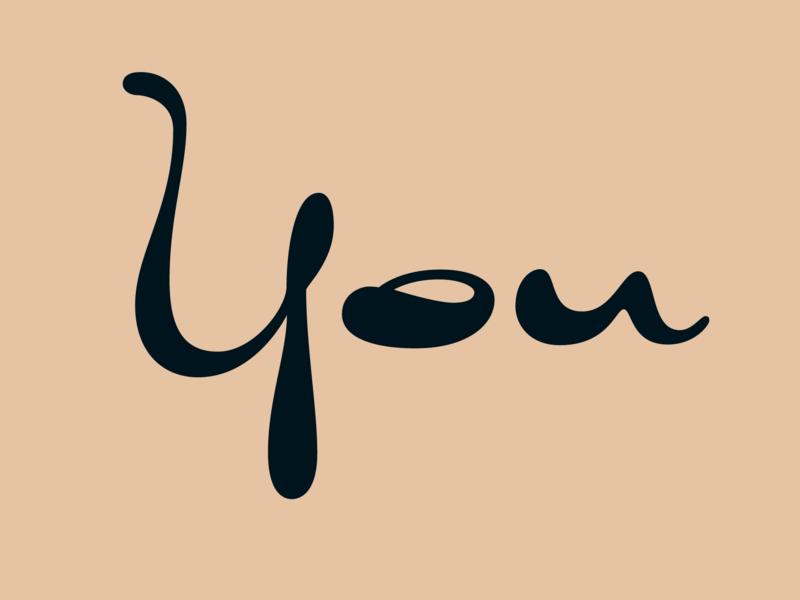 You design typography script lettering