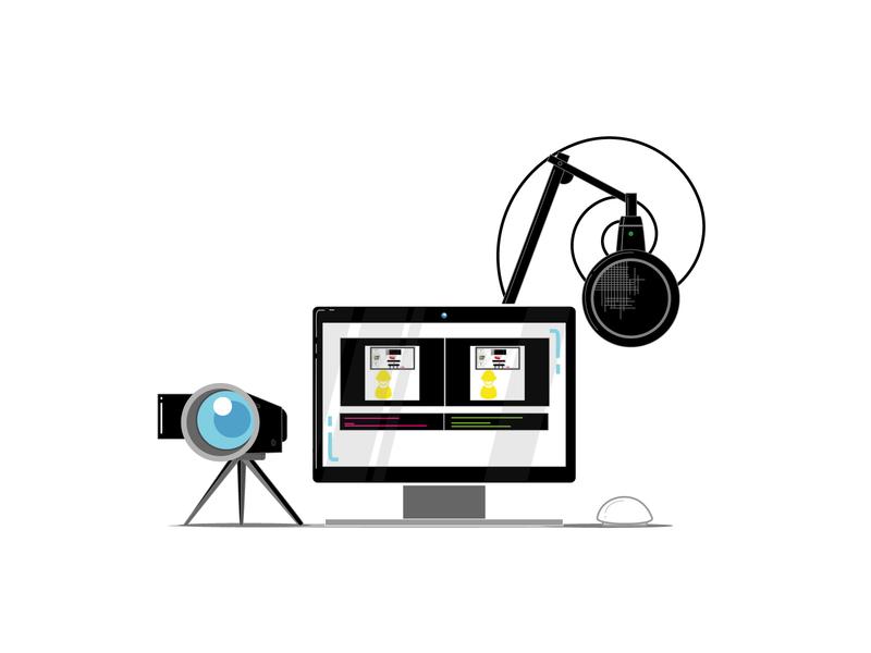 Editing Suite Infographics illustrator website web app vector minimal illustration flat design