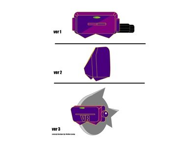 VR Headgear Concept Designs logo website web vector minimal illustrator illustration flat design app
