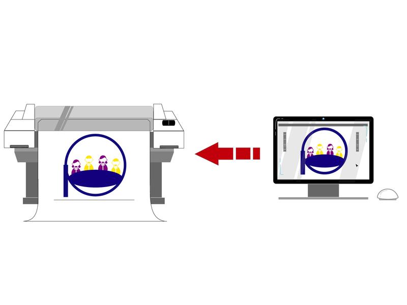 Poster Printer Infographic Concept Design icon website web vector minimal illustrator illustration flat design app
