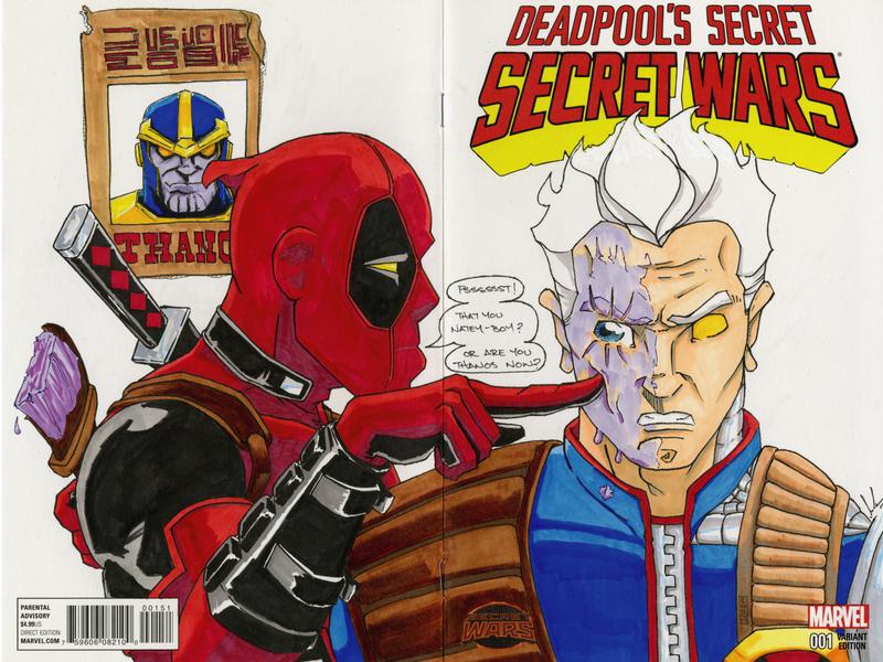 Deadpool s Secret Secret Wars traditional illustration markers deadpool marvel comic art illustrator illustration