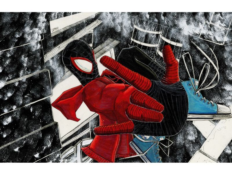Winter in NYC nyc spiderman markers illustrator illustration