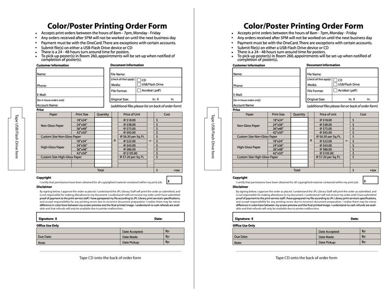 Sample Order Form Design -- half sheets order form typography minimal flat design illustrator