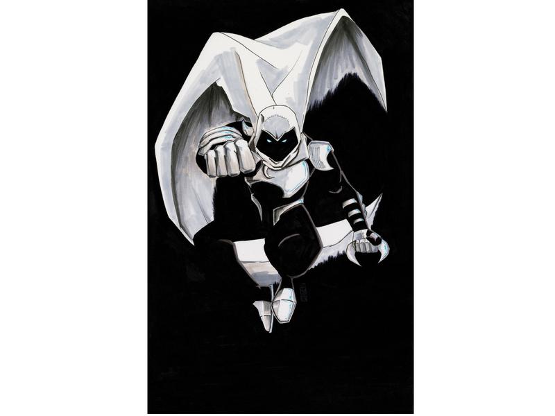 Moon Knight design illustration flat illustrator