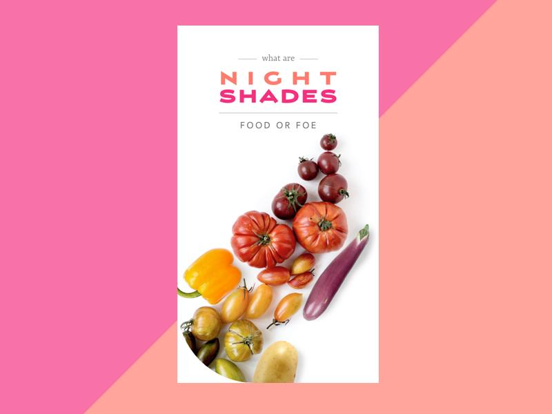 Nightshades food or foe prototype thuyngo appdesign mobile ui adobexd designs prototype