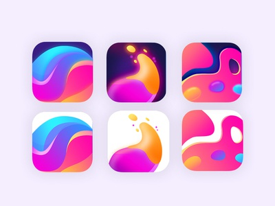 Icons for coloring app coloring color aso ux minimal flat web ui icon design app