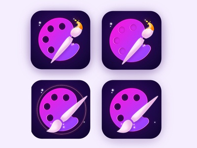 Icons for coloring app illustration ux coloring color aso web ui icon flat design app