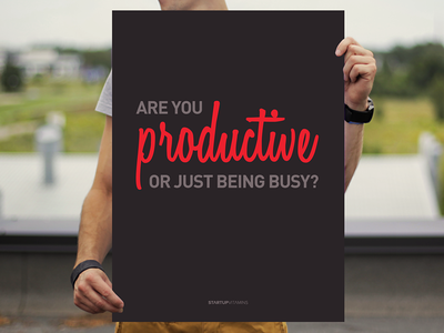 Are you productive or just being busy?
