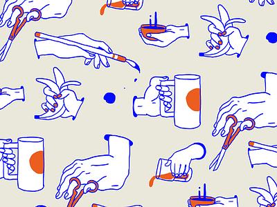 Pattern 01 hands illustration pattern