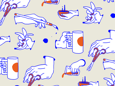 Pattern 01 hands illustration pattern