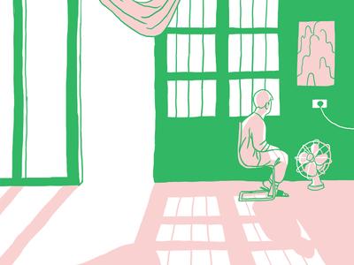 Some Body duotone zine illustration