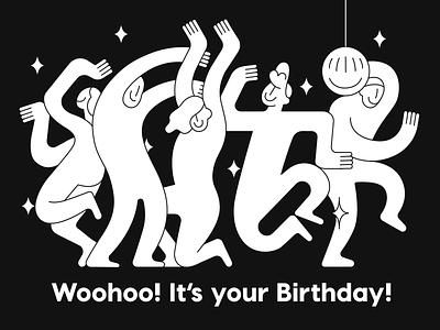 Intercom Birthday Card event birthday illustration intercom