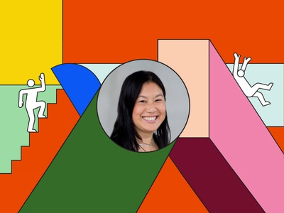 Inside Intercom: Lili Cheng people podcast intercom shapes illustration