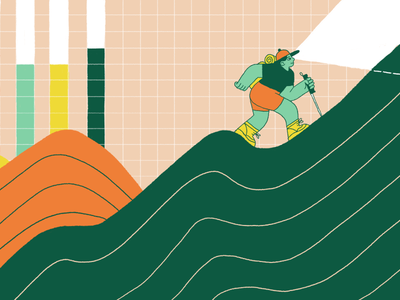 Keep KPIs Meaningful graph editorial illustration intercom
