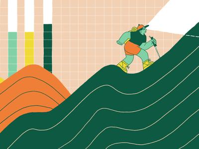 Keep KPIs Meaningful graph editorial illustration intercom
