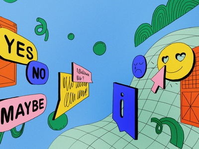 In App Notifications grids colors editorial intercom illustration