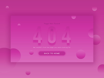 Daily UI Challenge 08 - 404 Page