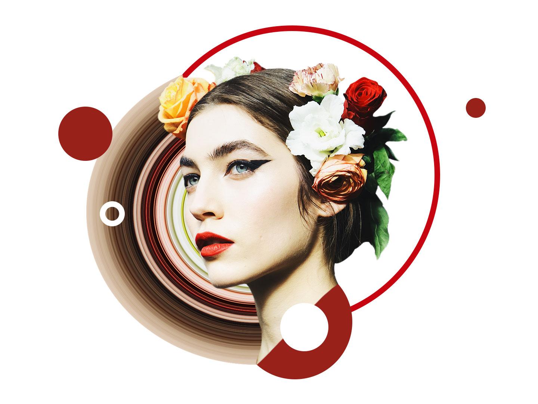 Collage 15 - Royal One i am back concept art red tutorial art flower crown concept collage creative illustration design