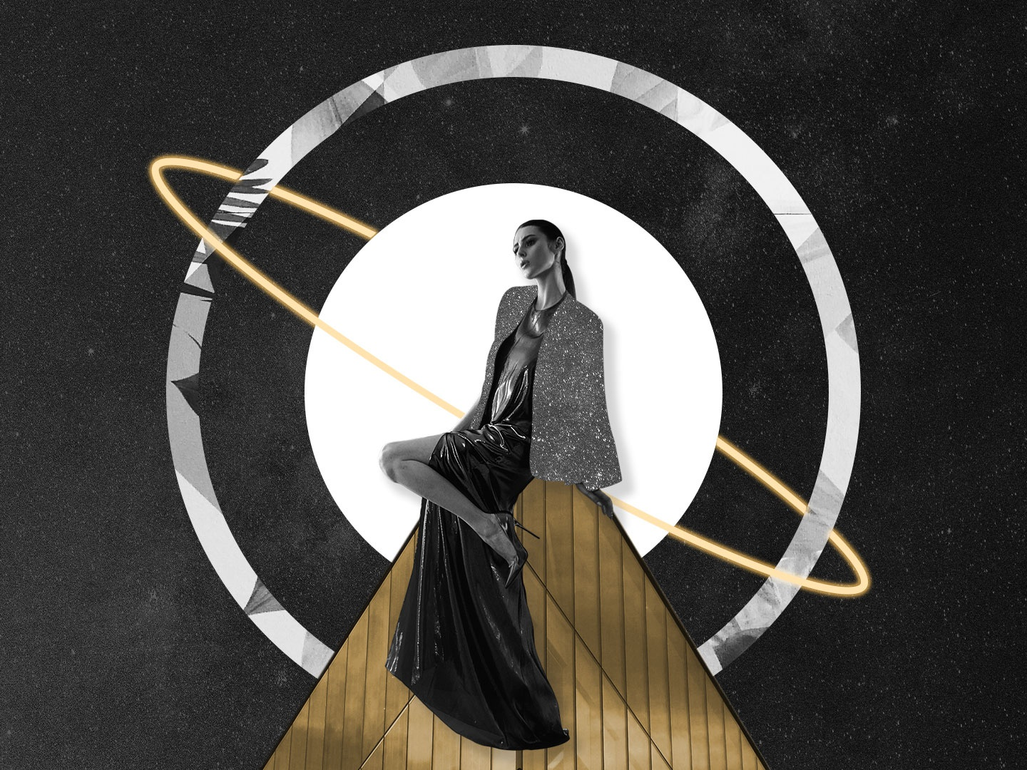 Space Glamour - Collage 18 fashion collages collageart warm up concept collage creative illustration design