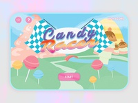 Candy Racer - Mobile Game UI