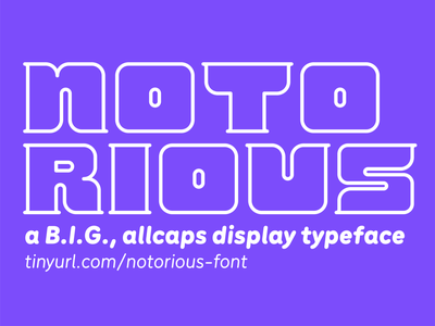 Notorious Typeface typeface design notorious big notorious biggie covid19 fundraiser font typeface