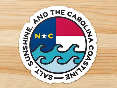 Carolina Coastline Sticker coastline hurricane benefit illustration sticker