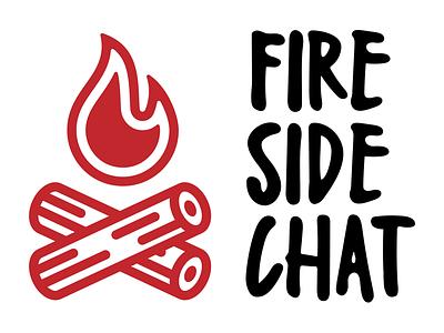 Fireside Chat livestream flame logo