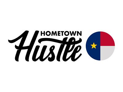 Hometown Hustle Brand illustration hand lettering logo lettering hand