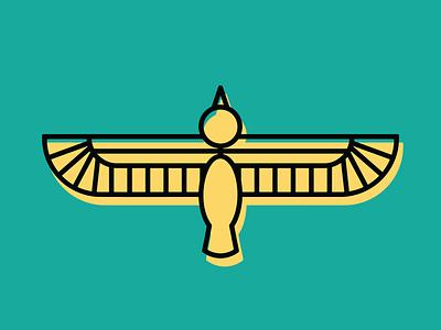 Horus Monoline Illustration vector monoline illustration
