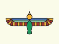 Horus Monoline Illustration, Traditional Palette