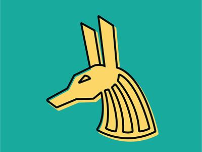 Anubis Offset vector monoline illustration