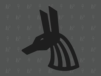 Anubis Pattern vector monoline illustration