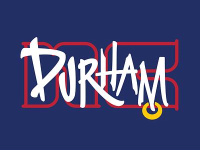 Durham Tribute curate vector homage lettering illustration bullcity durham