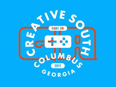 Columbus, GA for Creative South! bad badgedesign badge vector illustration