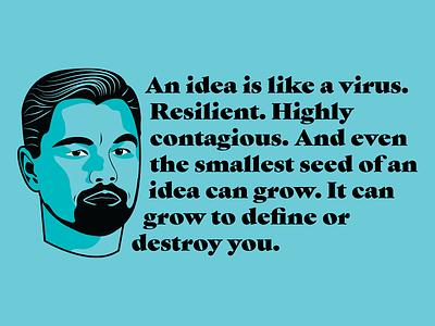 Leonardo DiCaprio Illustration | Inception Quote