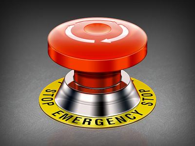 Emergency emergency button realistic